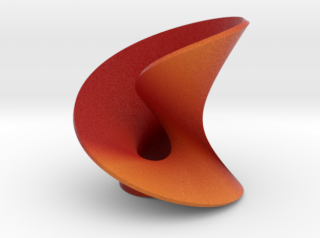 Abstact mobius leaf in Full Color Sandstone: Medium