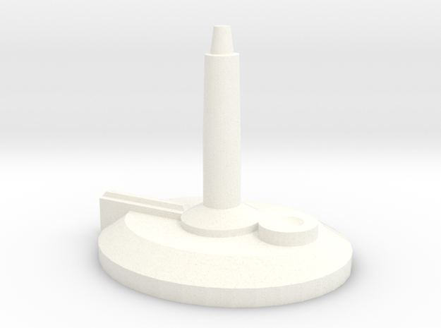 Large Starship Stand in White Processed Versatile Plastic