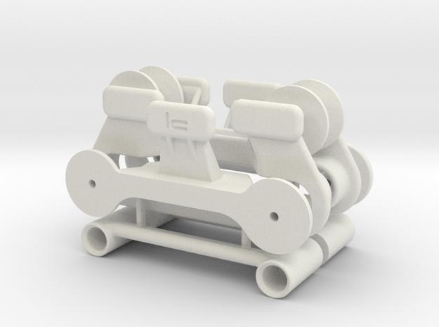 RG BK fairing snap-lock [kit] v1 in White Strong & Flexible