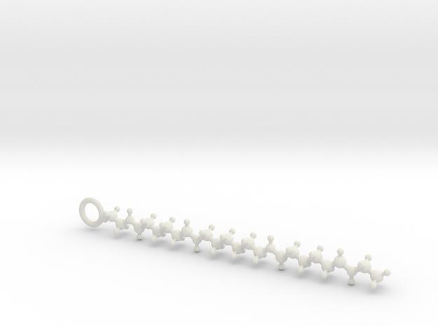 Nylon (Polyamide) 6,6 molecule in White Strong & Flexible