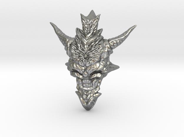 Dragon Head Pendant Top 01 in Raw Silver
