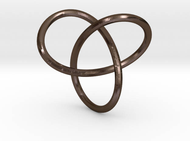 trefoil knot in Polished Bronze Steel