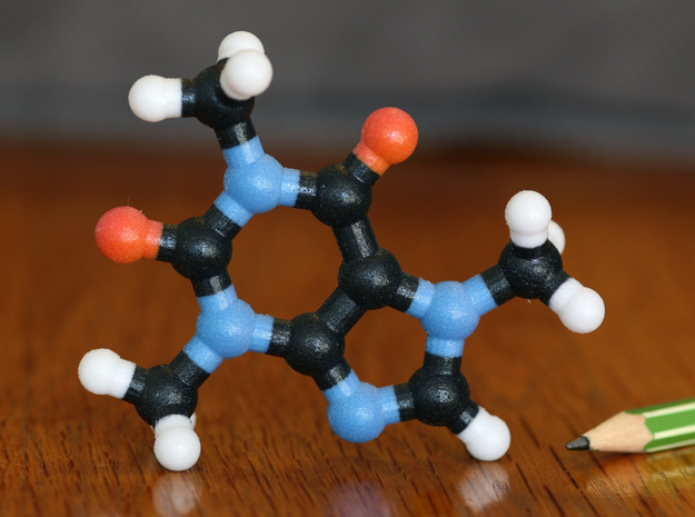Caffeine Molecule Model, 3 Size Options