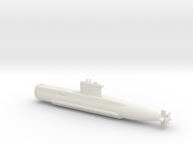 1/350 Type 209 - 1200 class submarine in White Natural Versatile Plastic