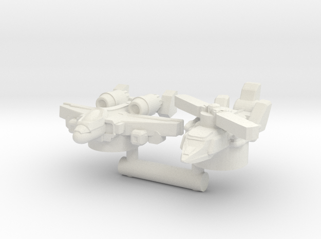 Alpha Bravo & Powerglide, Broadside Scale in White Natural Versatile Plastic