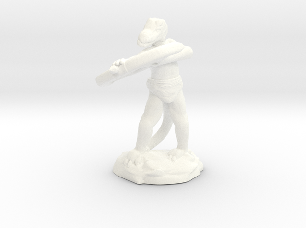 Kobold Archer With Shortbow Shooting High in White Processed Versatile Plastic
