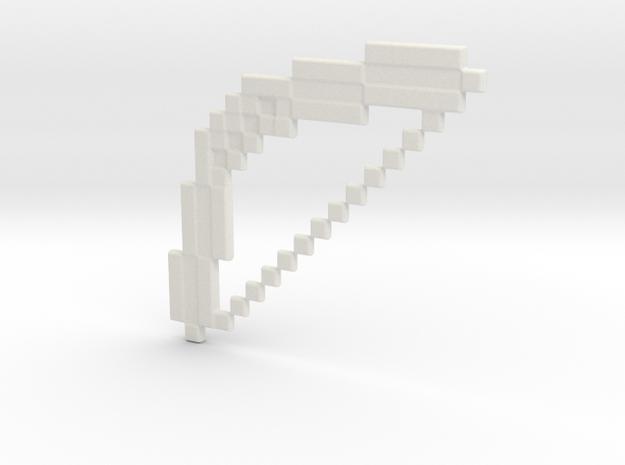 Minecraft Bow Keychain in White Natural Versatile Plastic