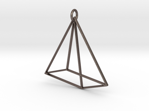 Tetrahedron Pendant in Stainless Steel