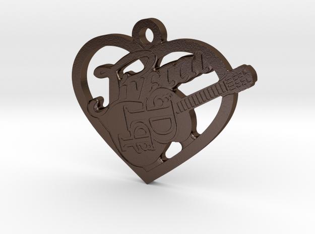 Ginetai Keychain in Polished Bronze Steel