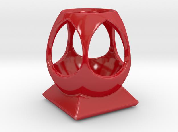 """""""Phi"""" Multipurpose Desk Caddy in Gloss Red Porcelain"""