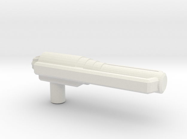 Predator Gun, 5mm in White Natural Versatile Plastic