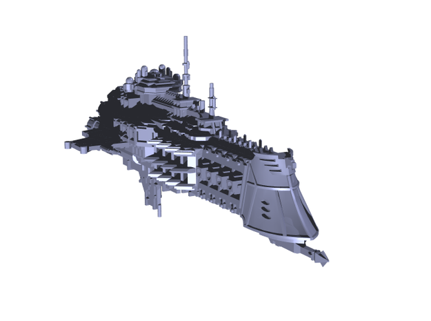 "Imperial Navy ""Dictator"" Cruiser 3d printed"