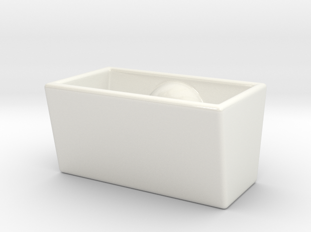 Dimpledish Scl in Gloss White Porcelain