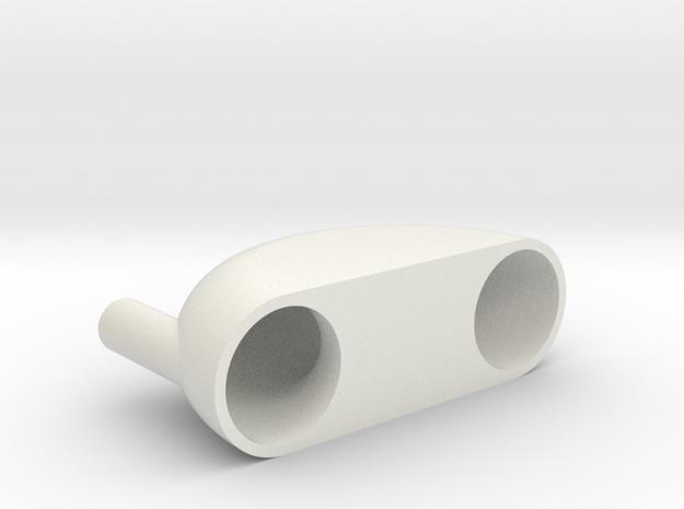 Pneumatic Vibrator in White Strong & Flexible