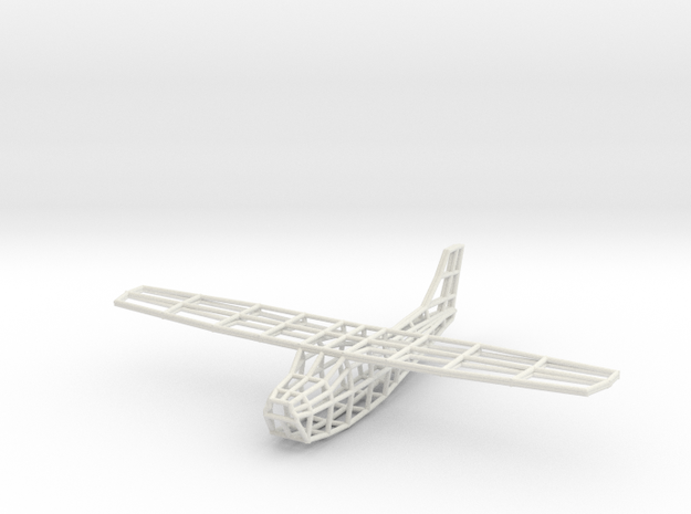 Cessna Wireframe in White Strong & Flexible