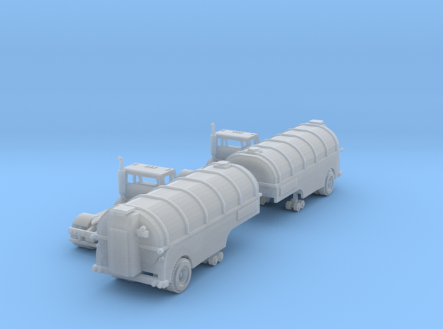 Milk Trucks With Tanker Z Scale in Smooth Fine Detail Plastic