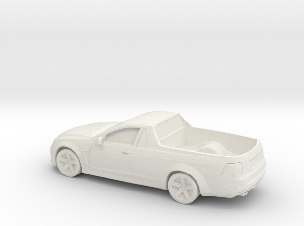 1/87 2015 Holden Ute in White Natural Versatile Plastic