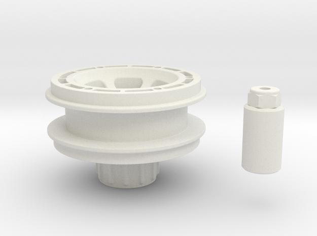 Beadlock rim for Losi Micro Rock Crawler in White Strong & Flexible