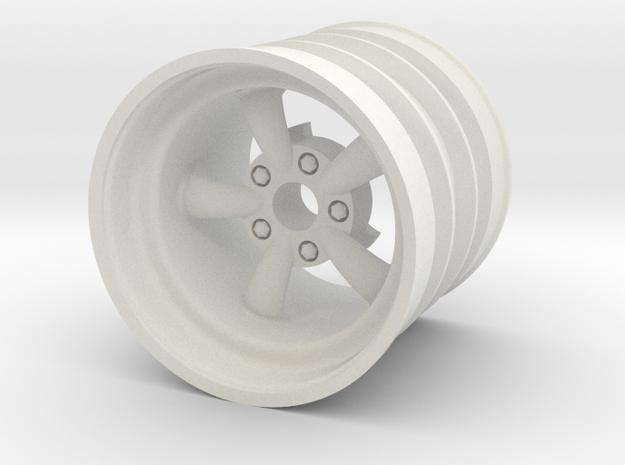 Rear SRB Empi 5 spoke wheel in White Natural Versatile Plastic