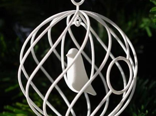 merry bird - christmas ornament 3d printed Merry Bird in Christmas tree