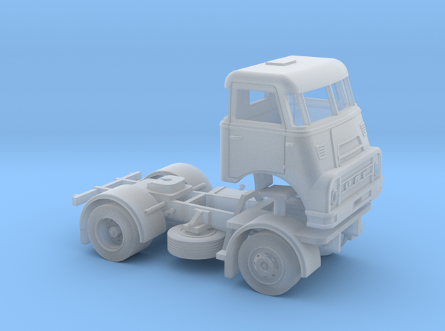 TT-scale (1:120) DAF DO 2400 2x4 truck. in Frosted Ultra Detail