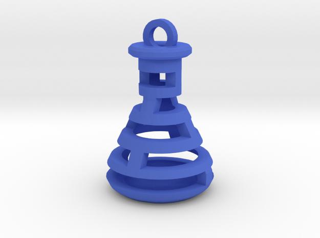 Beaker Pendant in Blue Processed Versatile Plastic