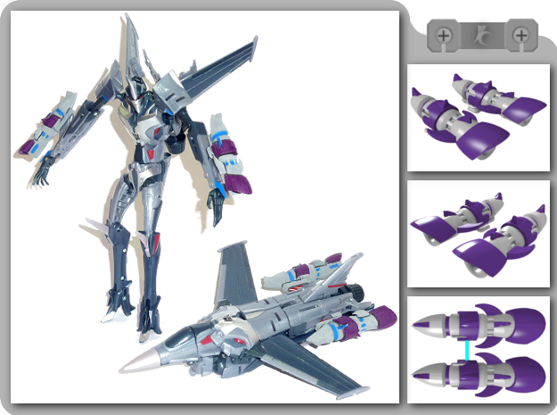 TFP Starscream Fusion Boosters in White Strong & Flexible