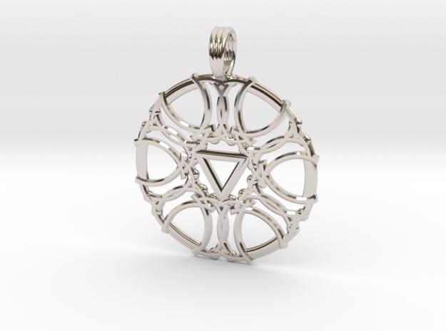 SATURN DIAMOND in Rhodium Plated