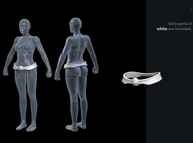 FB01-Belt-01s  6 inch in White Strong & Flexible Polished