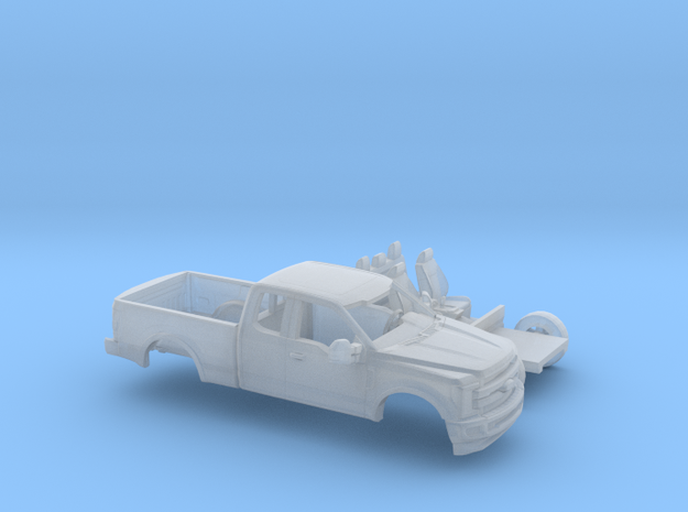 1/160 2017 Ford F-Series Ext Cab/Reg Bed Kit in Smooth Fine Detail Plastic