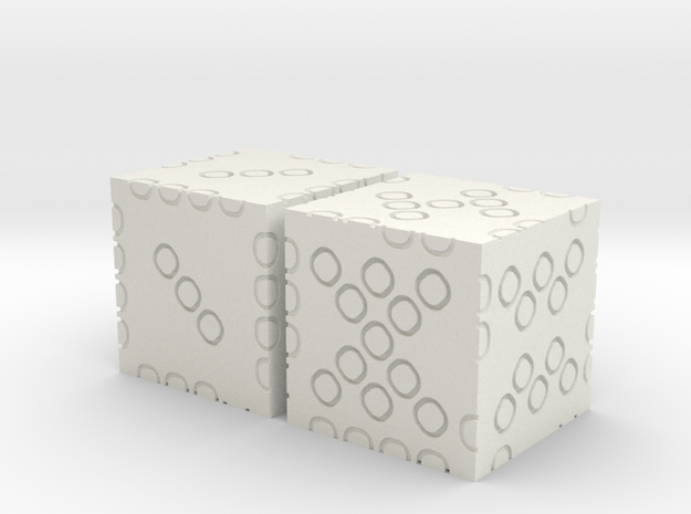 2-dice 3d6 in White Strong & Flexible