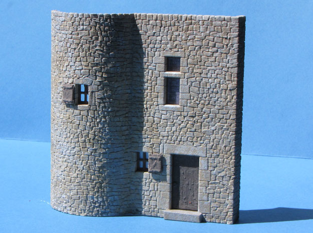 HOvVT04 - Troglodyte village in White Natural Versatile Plastic