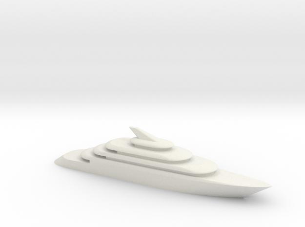 80m Yacht Model in White Natural Versatile Plastic