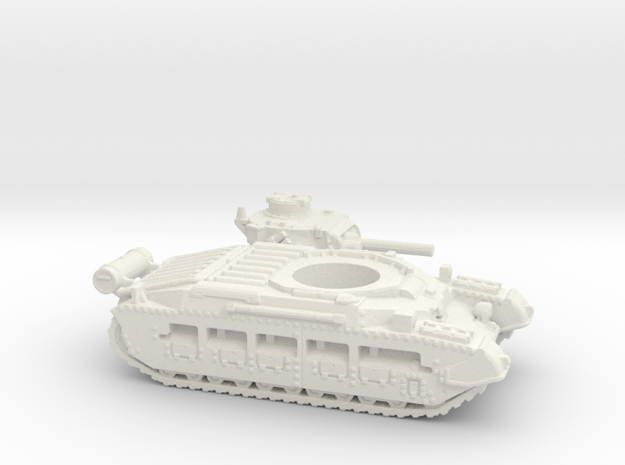 Matilda II with Fuel tank (British) 1/144 in White Natural Versatile Plastic