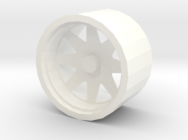 Rim Low Poly in White Strong & Flexible Polished: 1:10