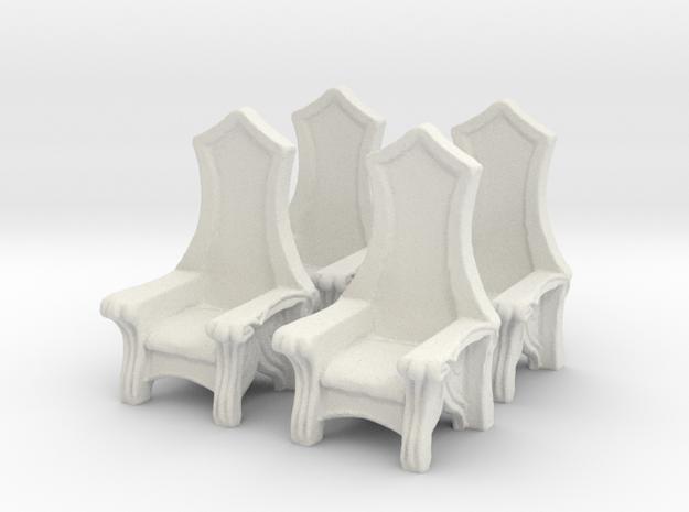 Chair: Elvish: V3 in White Natural Versatile Plastic