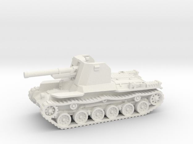 Ho Ni tank (Japan) 1/100 in White Natural Versatile Plastic