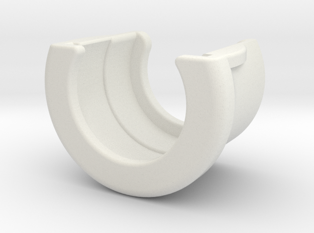 cuff for non-refill bottles (19x30mm) in White Strong & Flexible