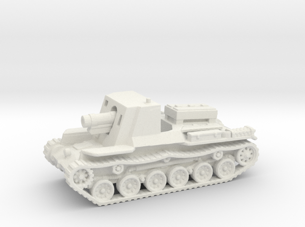 Ho-Ro Tank (Japan) 1/144 in White Natural Versatile Plastic