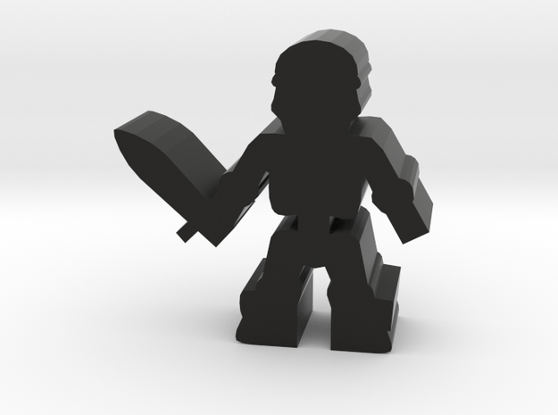 Game Piece, Skeleton With Sword in Black Natural Versatile Plastic