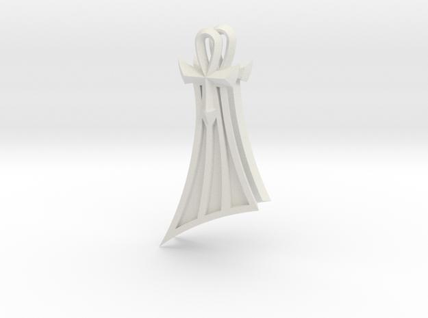 Pharaoh Atem Earrings (Smaller) in White Natural Versatile Plastic