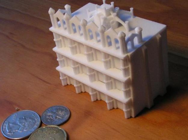Gothic Residential Block 3d printed Photo with US Dime, Quarter, and 20 cent euro piece