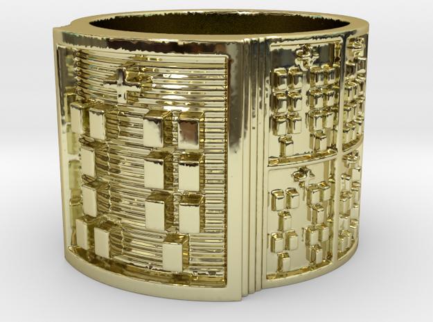 OKANAWORI Ring Size 13.5 in 18k Gold Plated Brass