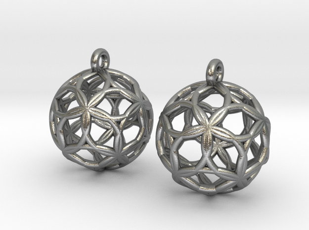 Starfish Sphererings in Natural Silver