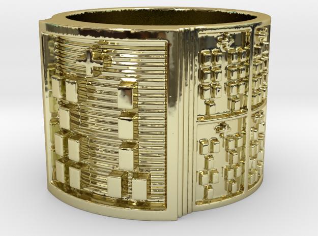 OGUNDAKA Ring Size 13.5 in 18k Gold Plated Brass