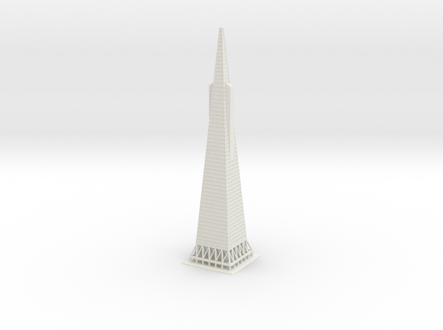 "12"" Transamerica Pyramid in White Strong & Flexible"