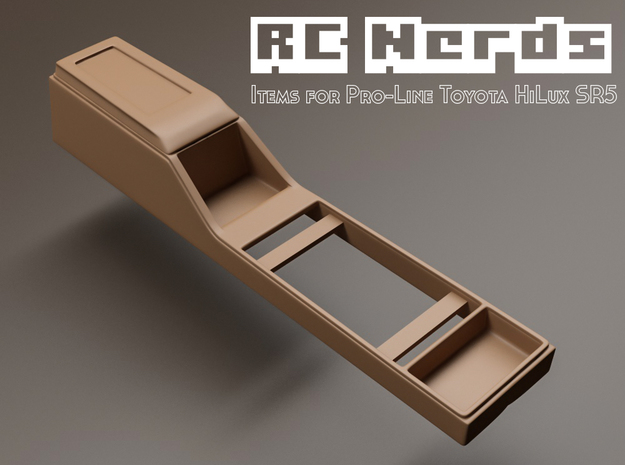 RCN022 Middle console car panel for Toyota HiLux S in White Natural Versatile Plastic