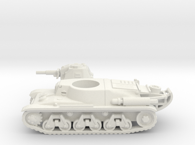 Hotchkiss tank (French) 1/87 in White Natural Versatile Plastic