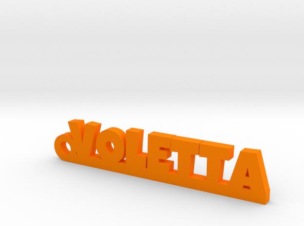 VOLETTA Keychain Lucky in Orange Processed Versatile Plastic