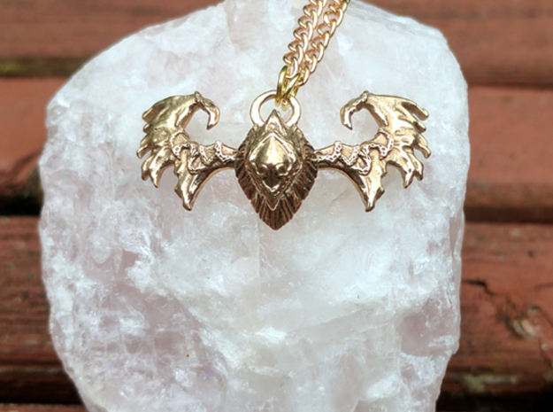 G'hanir, Warden's Crown Pendant in Polished Bronze